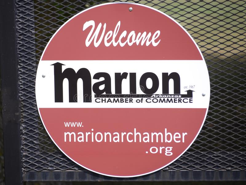 Marion Arkansas Chamber del commercio fotografie stock
