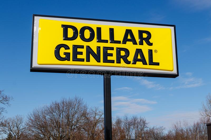 Dollar General Retail Location. Dollar General is a Small-Box Discount Retailer II. Marion - Circa March 2019: Dollar General Retail Location. Dollar General is stock image