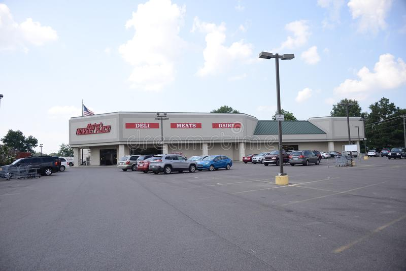 Marion`s Market, Marion Arkansas stock photography