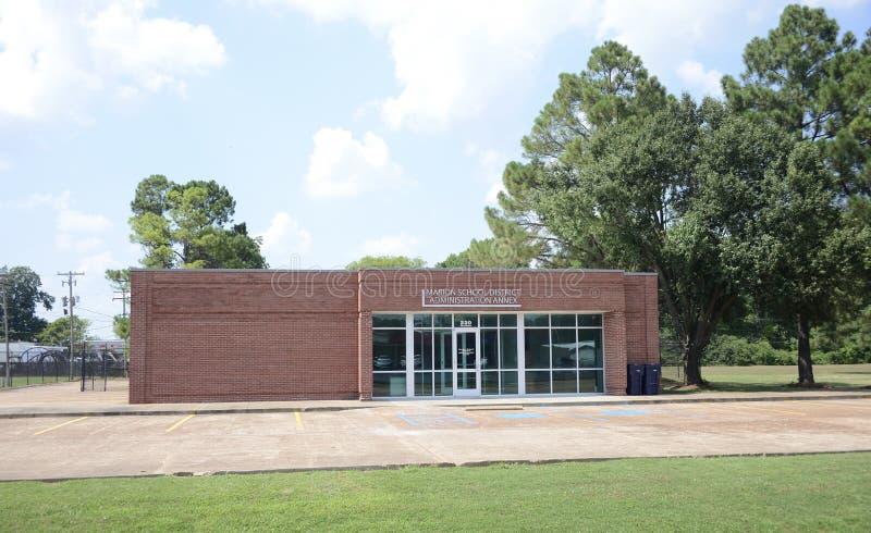 Marion School District Administration Annex Arkansas av Crittenden County arkivbilder