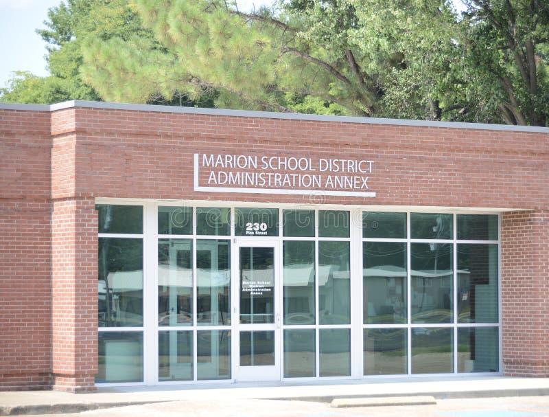 Marion School District Annex Arkansas av Crittenden County royaltyfri bild