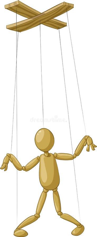 Marionet stock illustratie