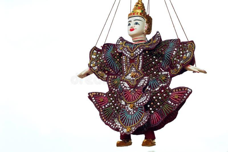 Marionet in Angkor, Kambodja vector illustratie