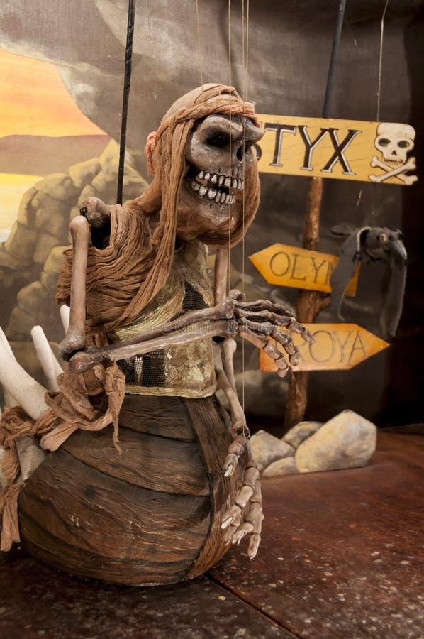 Marionet met naam van Dood royalty-vrije stock foto's