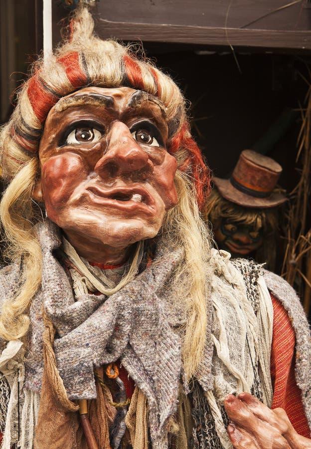 Marioneta checa tradicional de la bruja fotos de archivo
