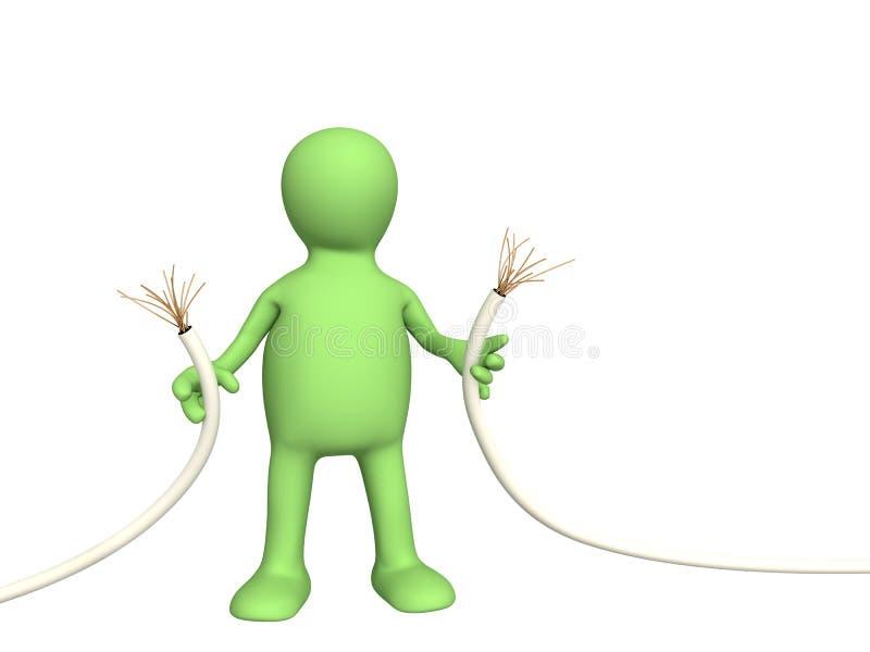 Marioneta con el alambre interrumpido libre illustration