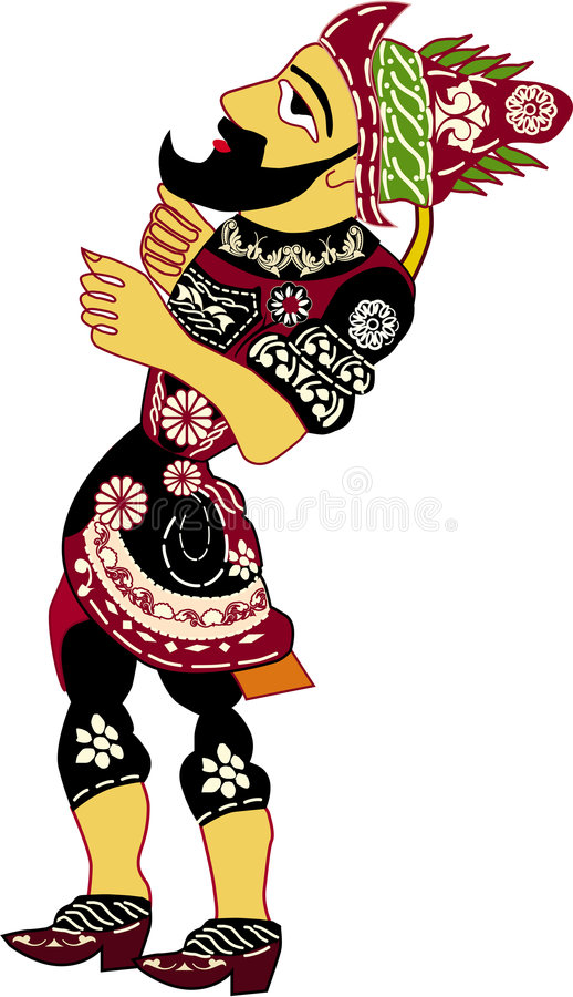 Marioneta de Hacivat stock de ilustración