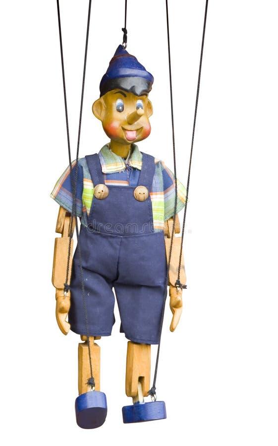 Marioneta de madera aislada fotos de archivo libres de regalías