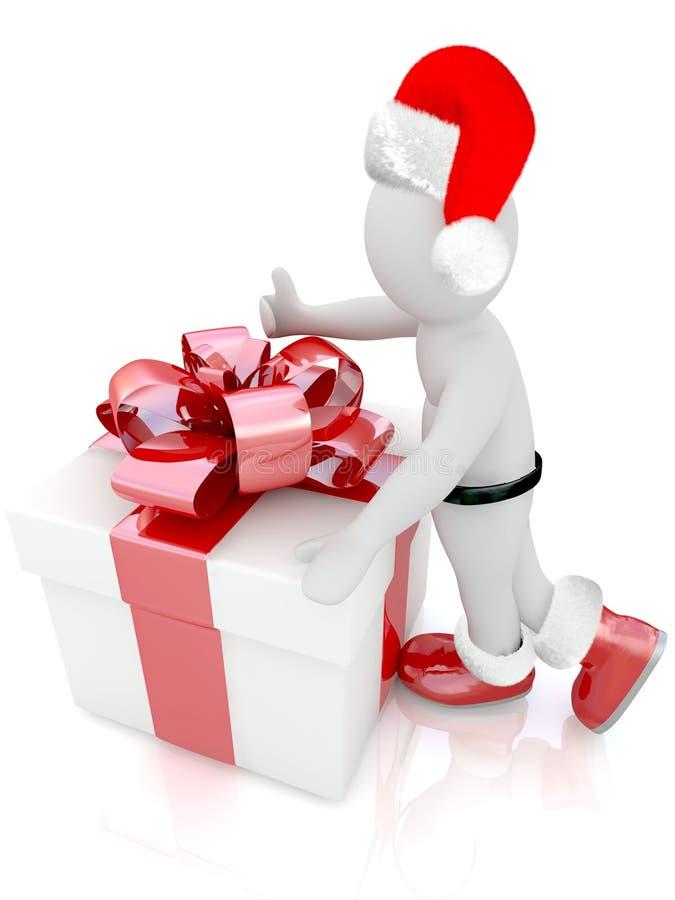 Marioneta de Santa Claus stock de ilustración