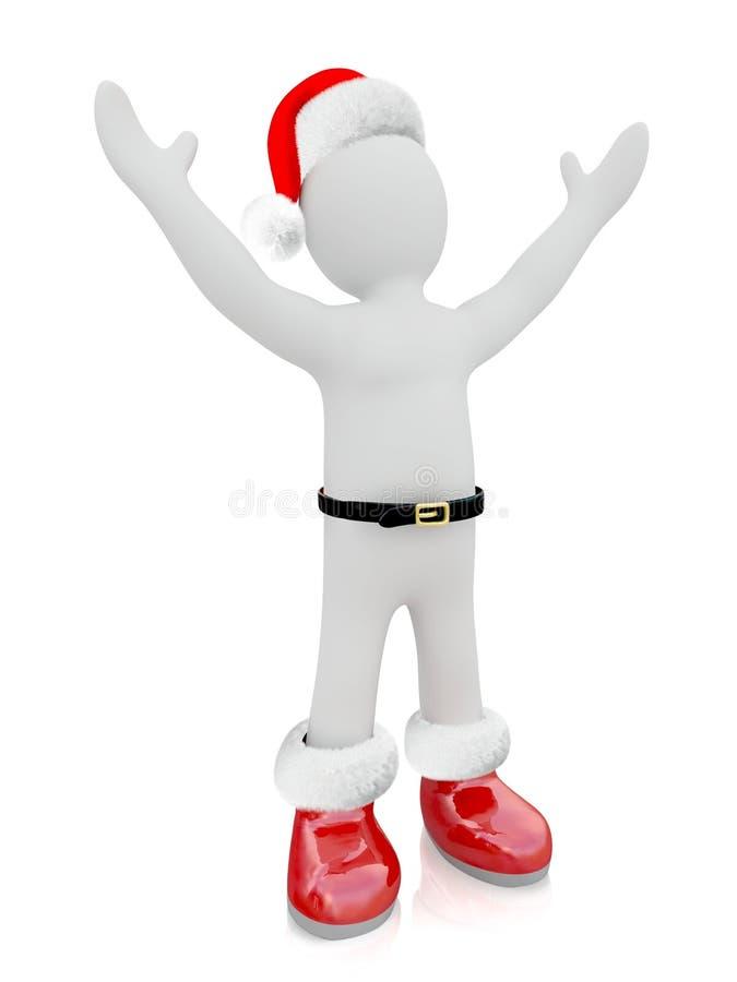 Marioneta de Santa Claus ilustración del vector