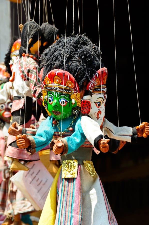 Marioneta en Nepal foto de archivo