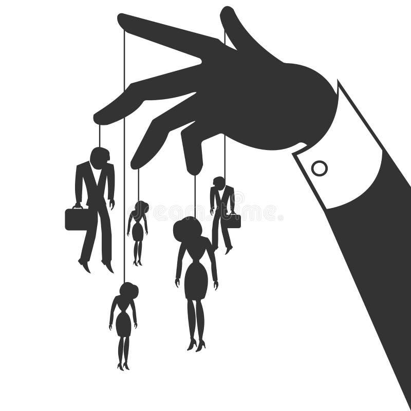 marionetas ilustración del vector