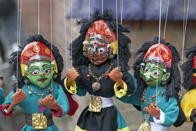 Marionetas coloridas imagenes de archivo