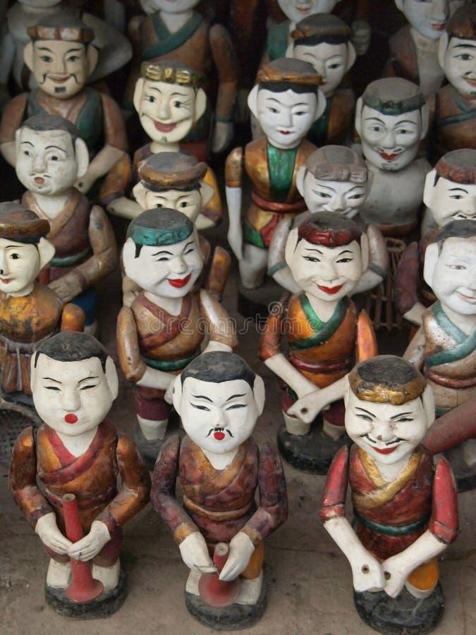 Marionetas del agua de Vietnam imagen de archivo libre de regalías