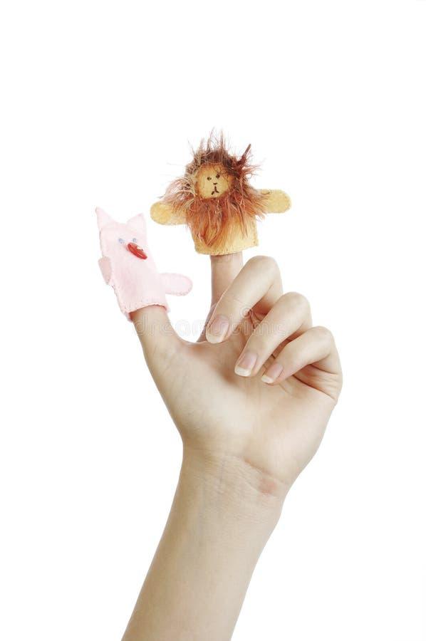 Marionetas del dedo fotos de archivo libres de regalías