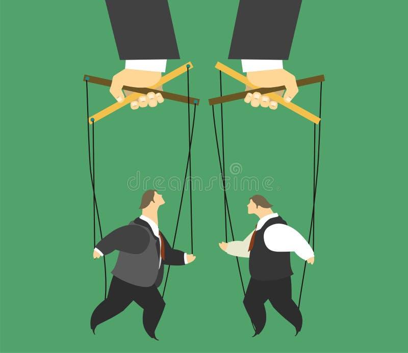 Marionetas en el concepto del negocio libre illustration