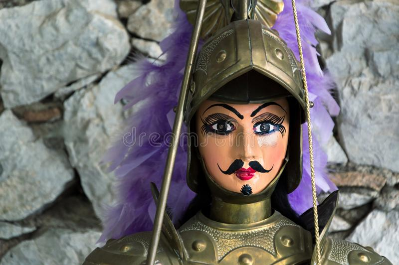Marionetas sicilianas fotografía de archivo