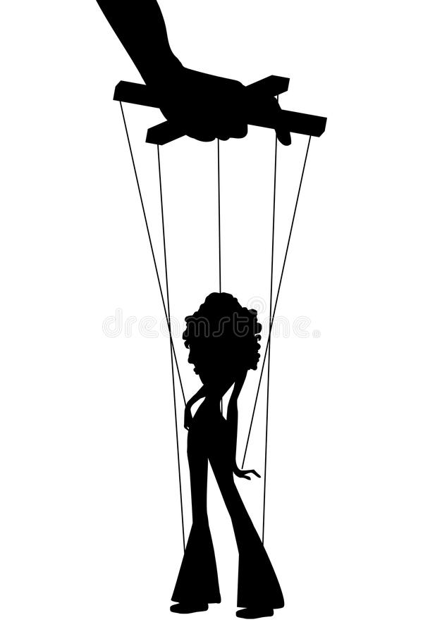 marionette vector illustratie