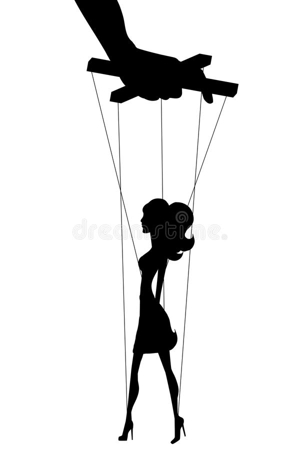 marionette stock illustratie