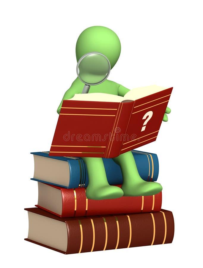 Marionette, das Verzeichnis lesend stock abbildung