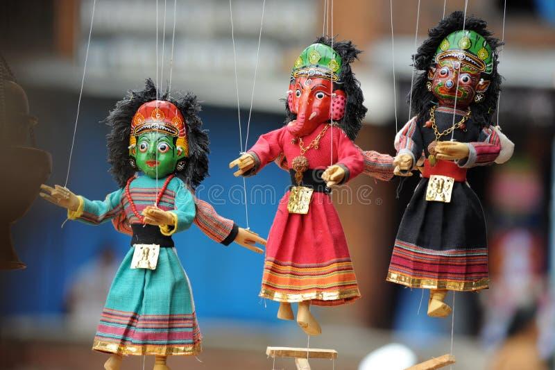 Marionette, Katmandu stockfotos