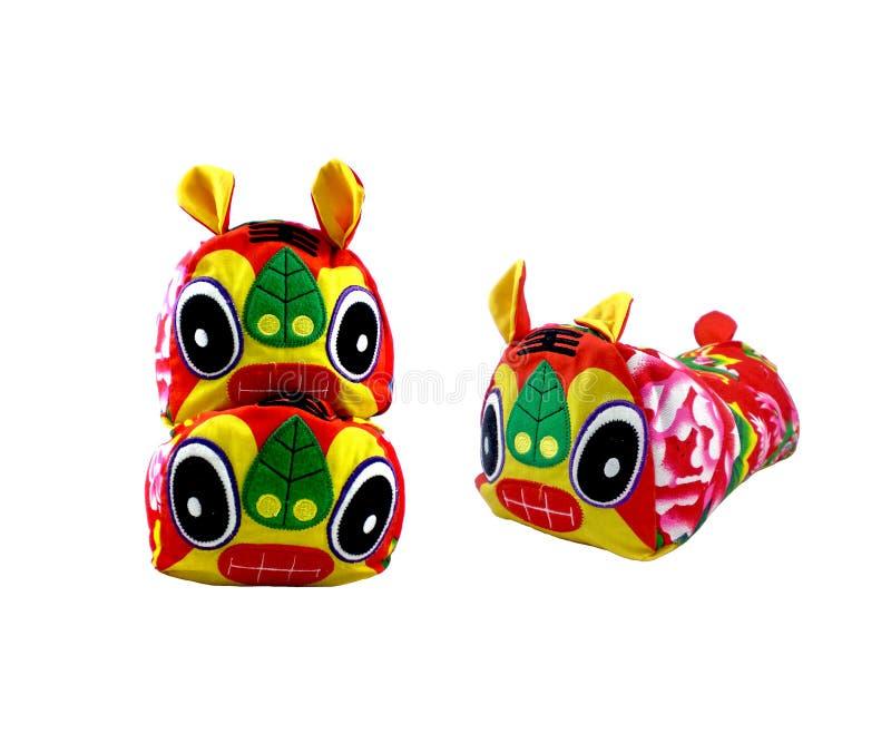 Marionette oder Spielzeug mit drei Tigern lizenzfreie stockfotos