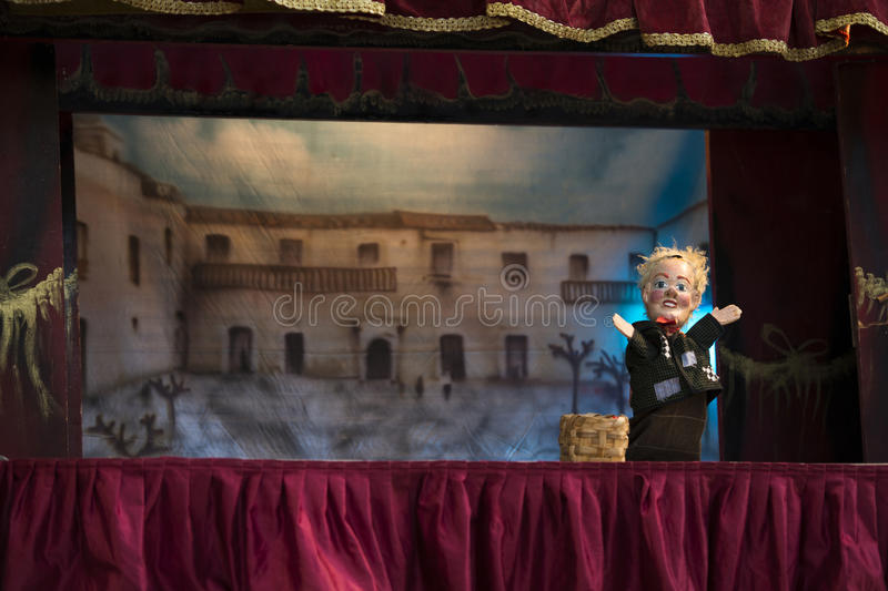 Marionette show stock photography