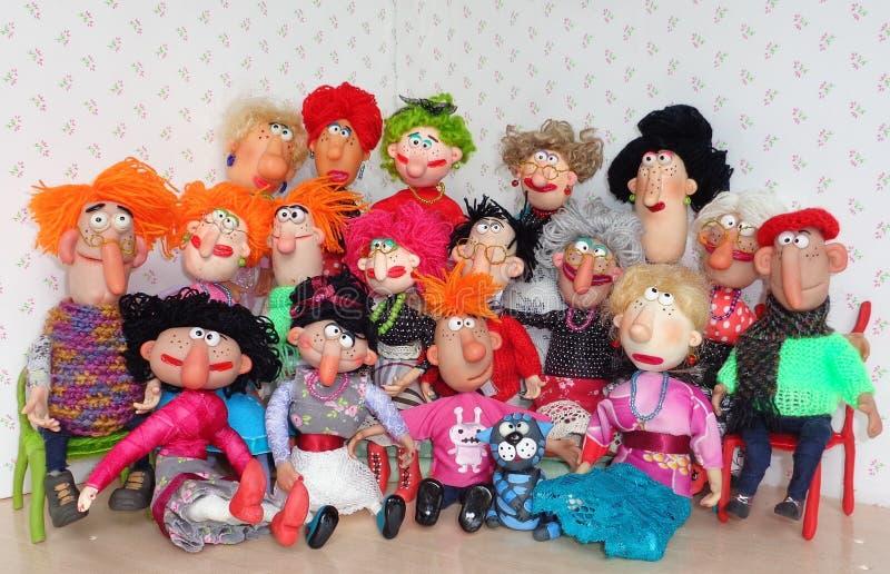 Marionetten grote familie royalty-vrije stock foto
