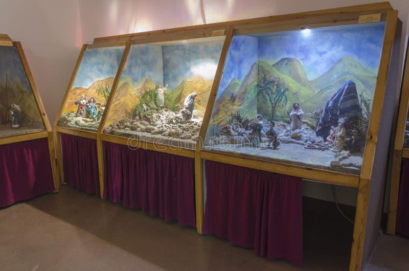 Marionetten-Museum in der Mitte der Künste in Haifa Castra stockfotografie