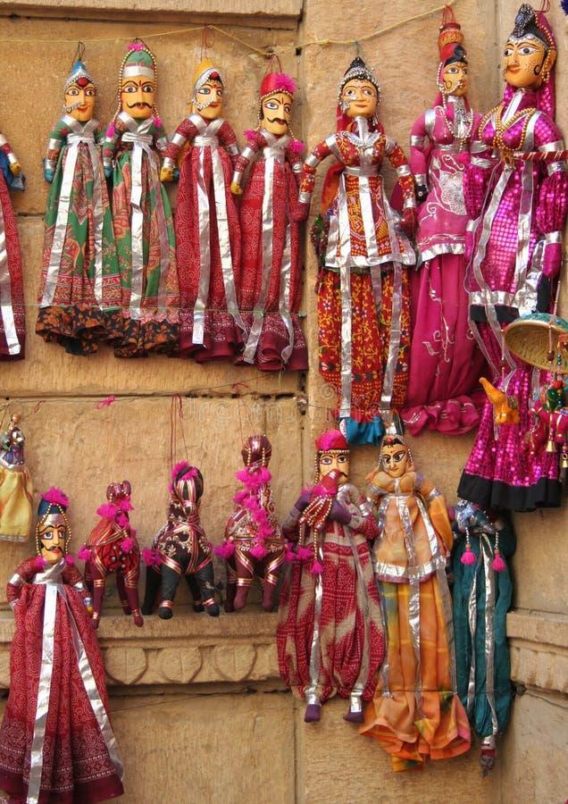 Marionetten in Rajasthan royalty-vrije stock foto's