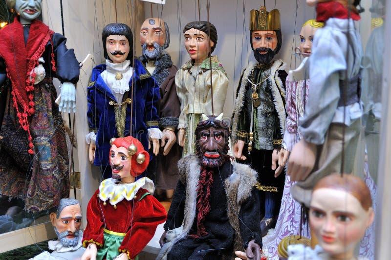 Marionettenmarionetten stock afbeeldingen