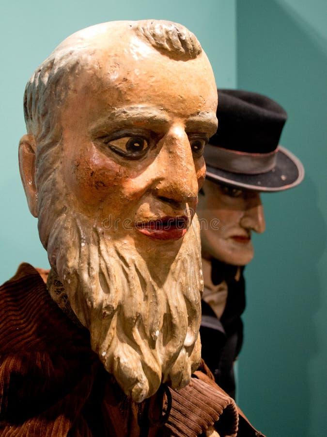 Marionettententoonstelling in Bergamo stock afbeelding