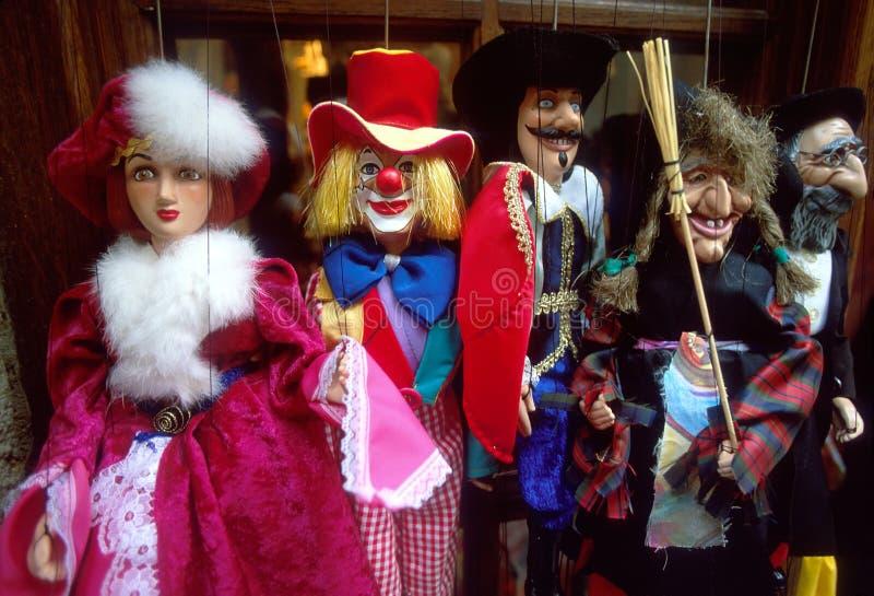Marionettesdockor   fotografering för bildbyråer