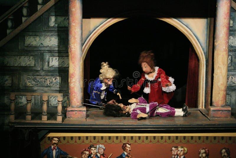 marionettetheatre royaltyfria foton