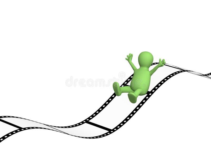 marionnette 3d glissant sur le film photographique illustration de vecteur