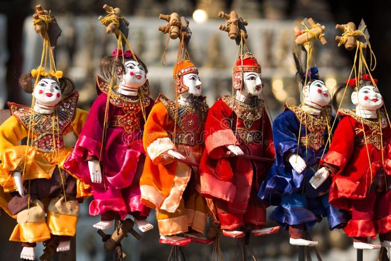 Marionnette annuelle de Myanmar photo libre de droits