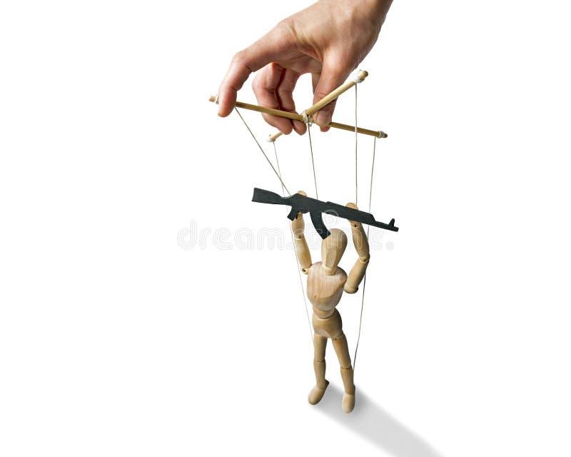 Marionnette avec l'arme à feu photo libre de droits