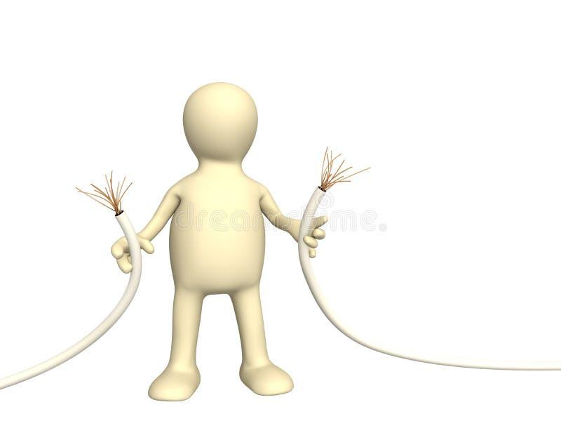 Marionnette avec le fil abrupt illustration de vecteur