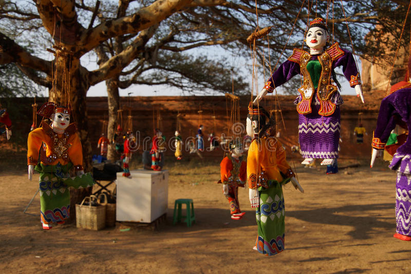 Marionnette birmanne traditionnelle photographie stock