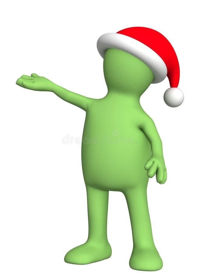 marionnette de costume de Noël illustration de vecteur