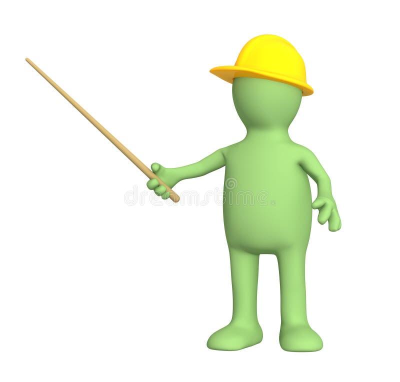 marionnette de sélection du constructeur 3d illustration stock
