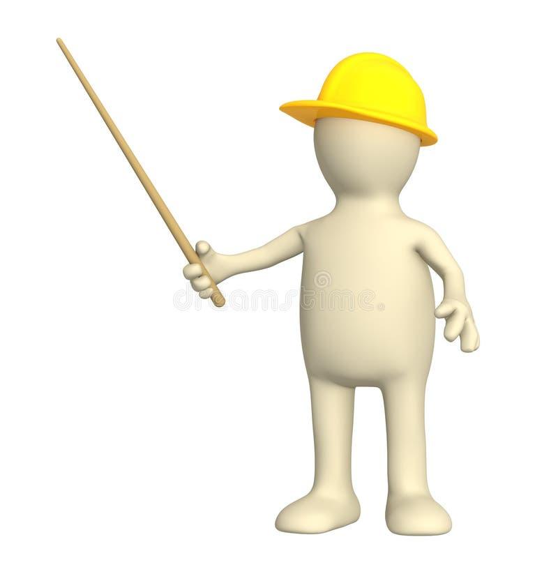 marionnette de sélection du constructeur 3d illustration de vecteur