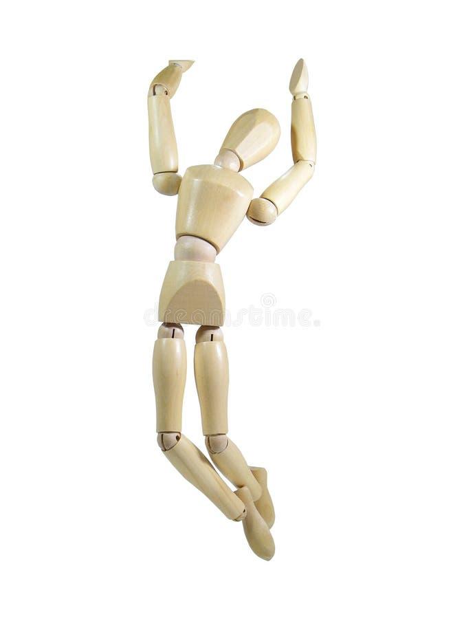 Marionnette en bois de Yippee photo stock