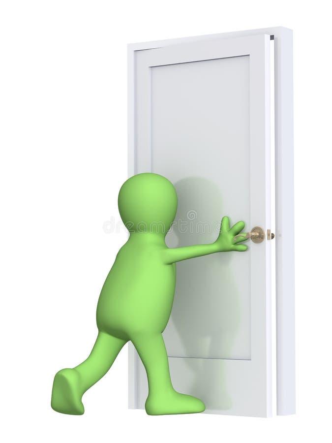 marionnette fermante de la trappe 3d illustration stock