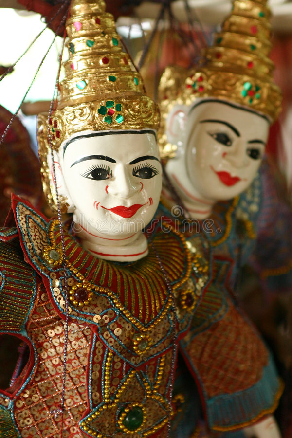 Marionnette thaïe images libres de droits