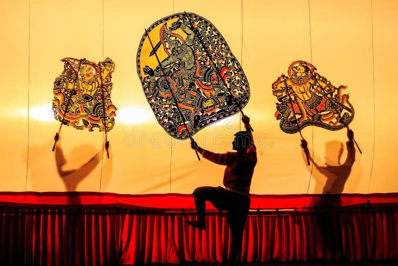 Marionnette thaïlandaise d'ombre image libre de droits