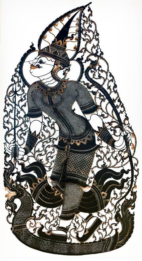 Marionnette thaïlandaise de pièce d'ombre photos libres de droits