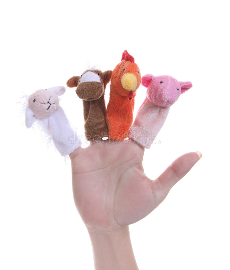 Marionnettes animales image libre de droits