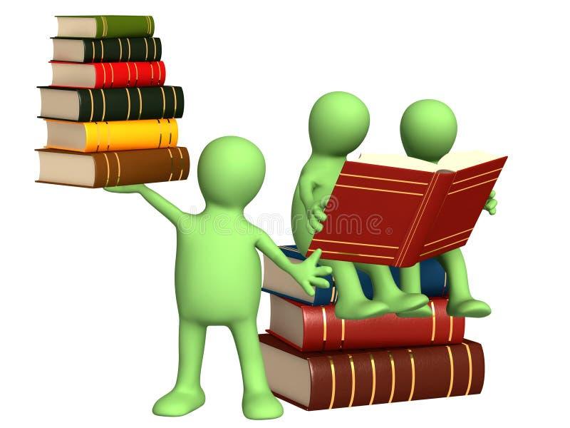 Marionnettes avec des livres illustration libre de droits