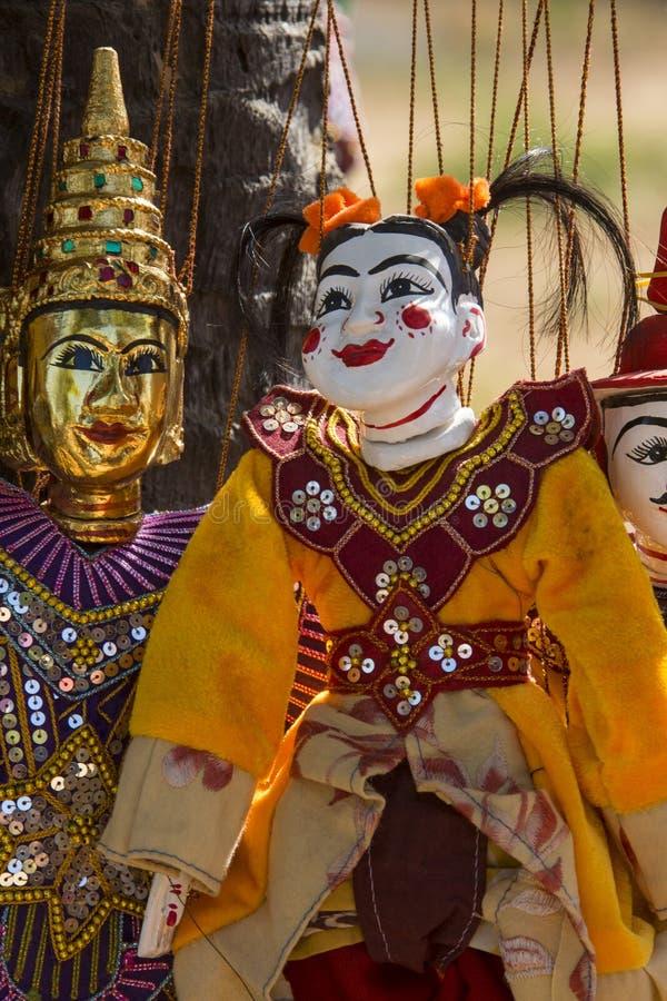 Marionnettes birmannes - Bagan - Myanmar (Birmanie). photo stock